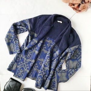 3/$20 Everyly Blue and Gray Open Cardigan Jacket